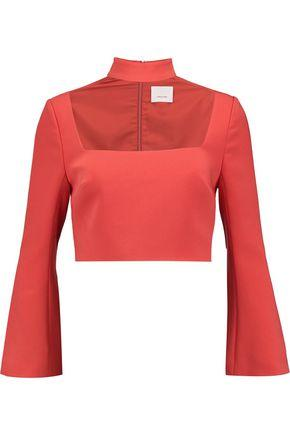 Cinq À Sept Woman Amara Cropped Crepe Top Red