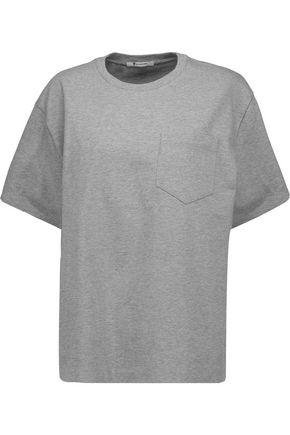 T By Alexander Wang Woman Cotton-jersey Top Gray