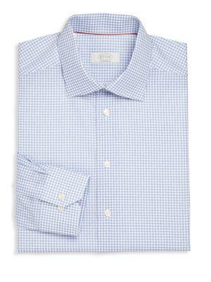 Eton Printed Regular-fit Dress Shirt In Purple
