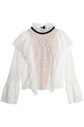 Sea Woman Ruffled Lace Top White