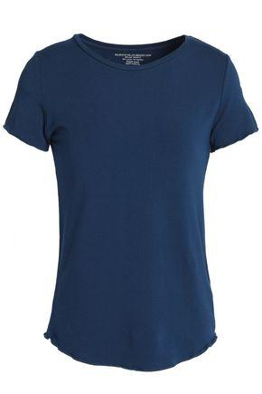 Majestic Woman MÉlange Stretch-jersey T-shirt Navy