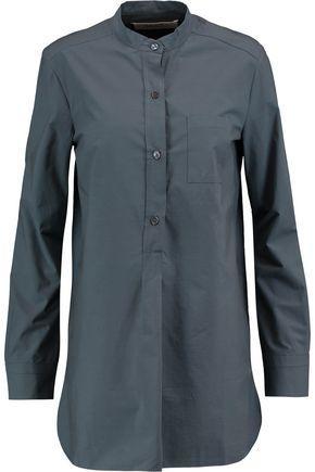 Marni Woman Cotton-poplin Shirt Blue