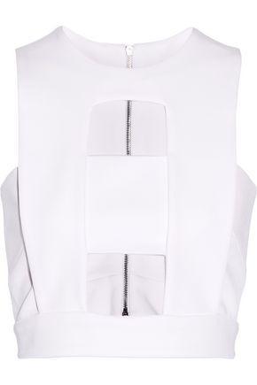 Cushnie Et Ochs Woman Cutout Stretch-jersey Top White