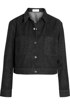 KÉji Cropped Denim Jacket In Black