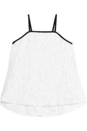 Victoria Victoria Beckham Woman Cotton-blend Jacquard Camisole White