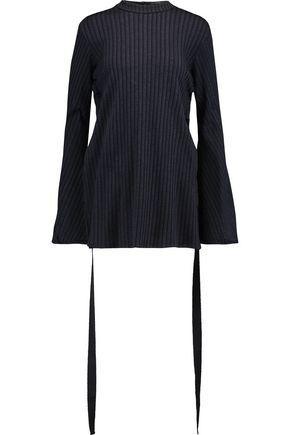 Ellery Woman Teddy Girl Ribbed Stretch-knit Top Storm Blue