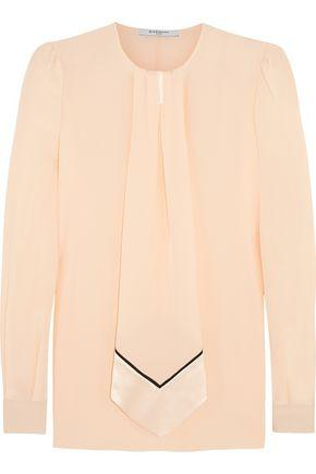 Givenchy Woman Blouse In Pastel-pink Silk Crepe De Chine Pastel Pink