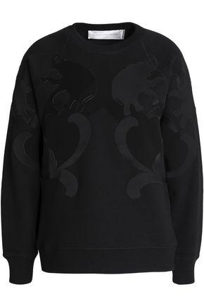 Victoria Victoria Beckham Woman Paneled Cotton-jersey Sweatshirt Black