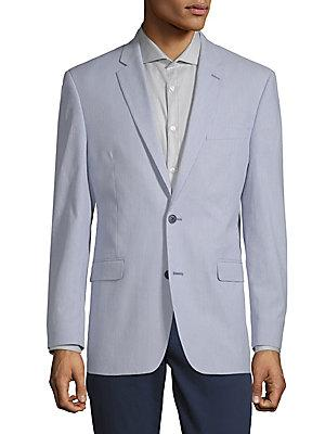 Tommy Hilfiger Stripe Notch Lapel Jacket In Blue White