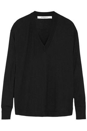 Givenchy Woman Wool And Silk-blend Sweater In Black Black