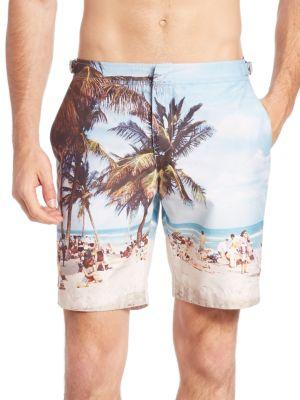 Orlebar Brown Dane Ii Hulton Getty Swim Shorts In Blue Multi