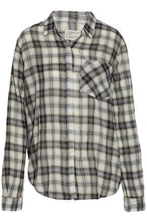 Current Elliott Woman Checked Cotton-blend Flannel Shirt Multicolor