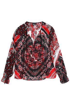 Just Cavalli Woman Printed Crepe Top Red