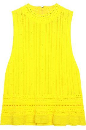 3.1 Phillip Lim Woman Pointelle-knit Top Bright Yellow