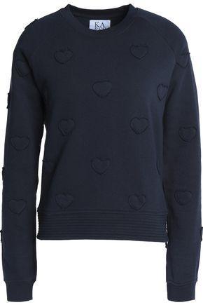 Zoe Karssen Woman Cotton-terry Sweatshirt Navy