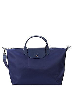 Longchamp Le Pliage Néo Top Handle Bag In Navy