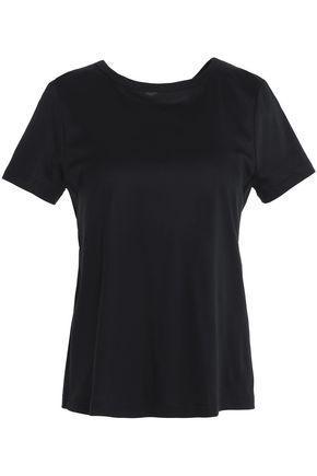 Helmut Lang Woman Open-back Cotton-jersey T-shirt Black