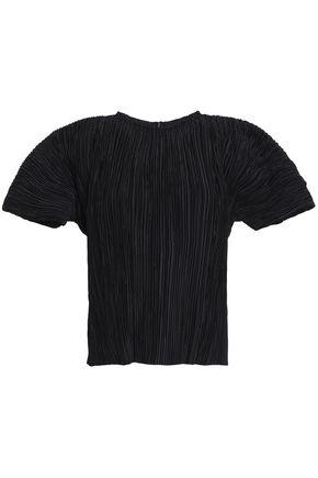 Haider Ackermann Woman PlissÉ Crepe De Chine Top Black