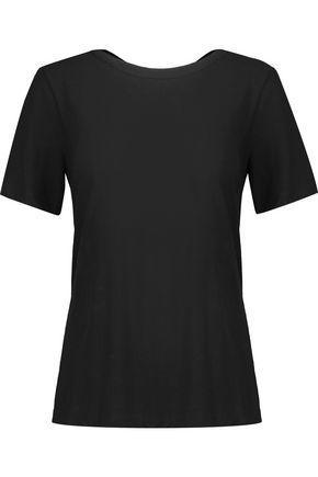 A.l.c Woman Kaleb Cutout Cotton-jersey T-shirt Black