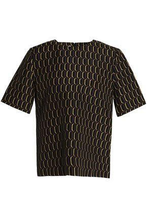 Marni Woman Printed Cotton Top Black
