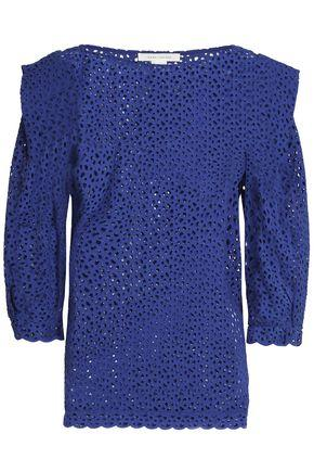 Marc Jacobs Woman Broderie Anglaise Cotton Top Blue