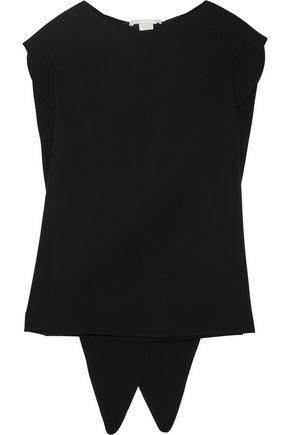 Antonio Berardi Woman Split-back Stretch-crepe Top Black