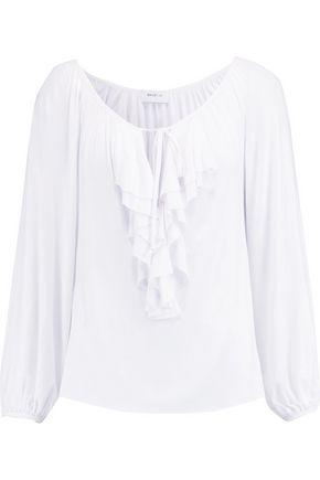 Bailey44 Woman Ruffle-trimmed Stretch-jersey Top White