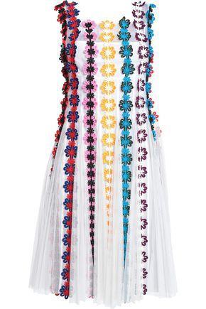 Mary Katrantzou AppliquÉd Tulle And Silk-organza Dress In White