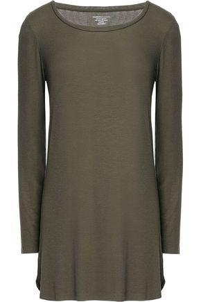 Majestic Woman Ribbed-knit Top Army Green