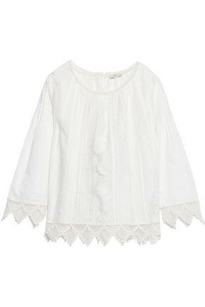Joie Woman Orla Crochet-trimmed Broderie Anglaise Cotton Top Ivory