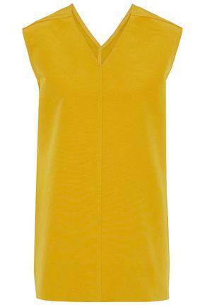 Rick Owens Woman Cotton And Silk-blend Faille Top Yellow