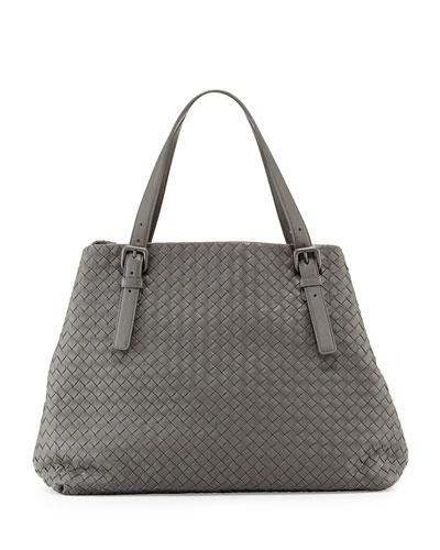 Bottega Veneta Large Double-Strap A-Shape Tote Bag In Gray