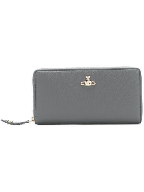 Vivienne Westwood Zip Around Wallet In Grey