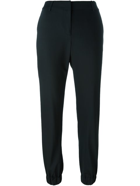 Michael Michael Kors Gathered Ankle Trousers   In Black