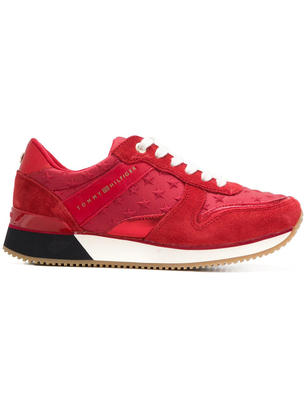 8eebcb9cb20c Tommy Hilfiger Star Embossed Sneakers In Red