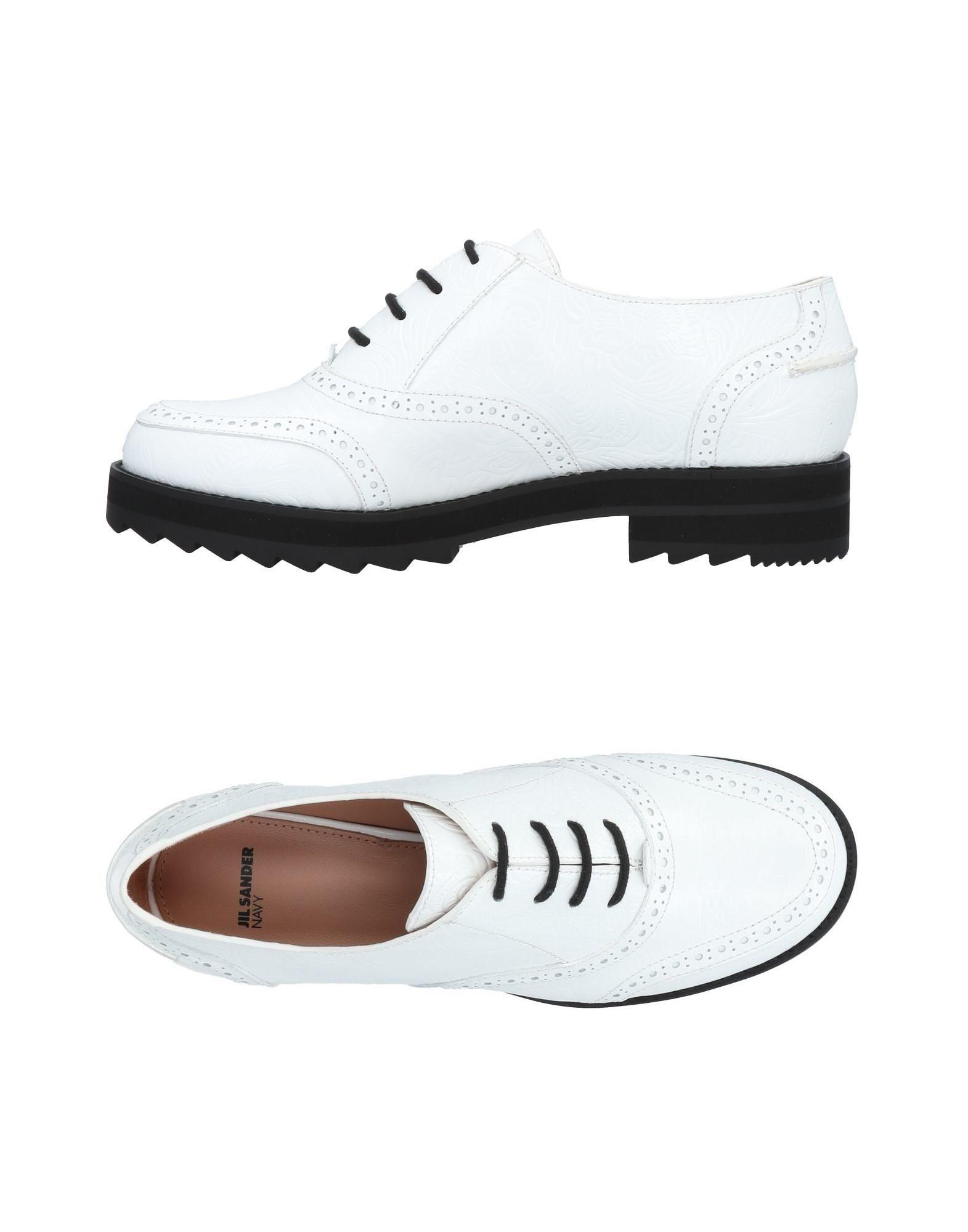 Jil Sander Laced Shoes In White