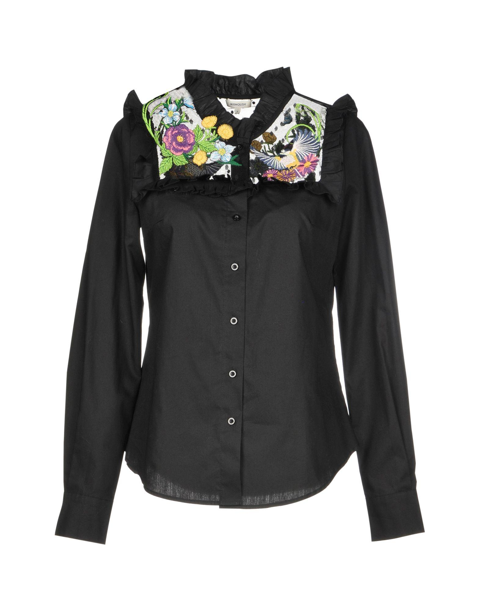 Manoush Solid Color Shirts & Blouses In Black