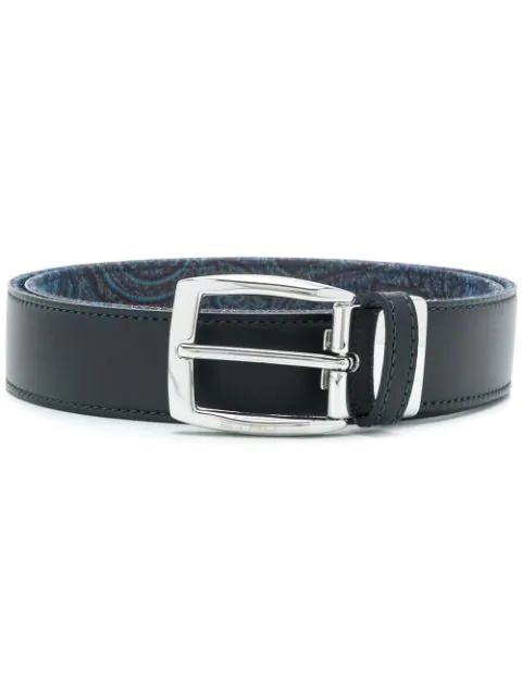 Etro Paisley Interior Belt - Blue