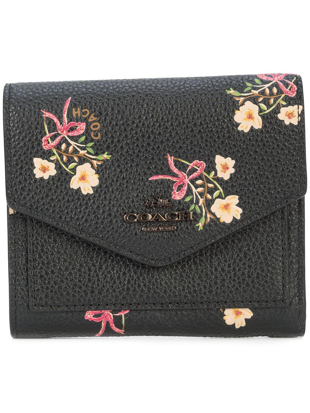 Coach Floral Bow Small Wallet