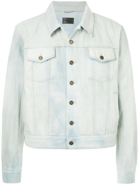 Saint Laurent Boxy Denim Jacket - Blue