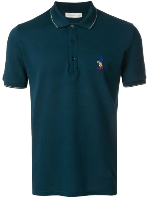 Etro Slim-fit Polo Shirt In Blue