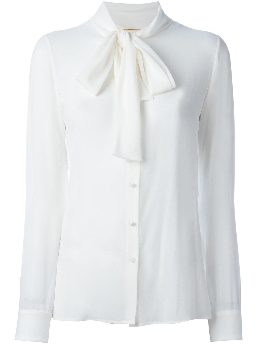 Saint Laurent Pussy Bow Blouse