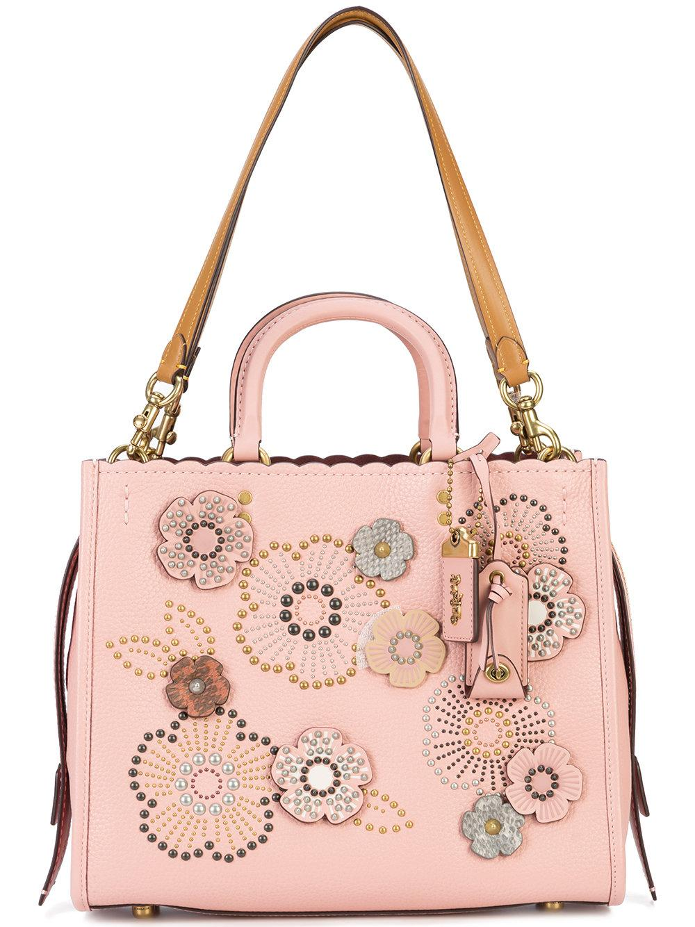 Coach Tea Rose Rogue Bag