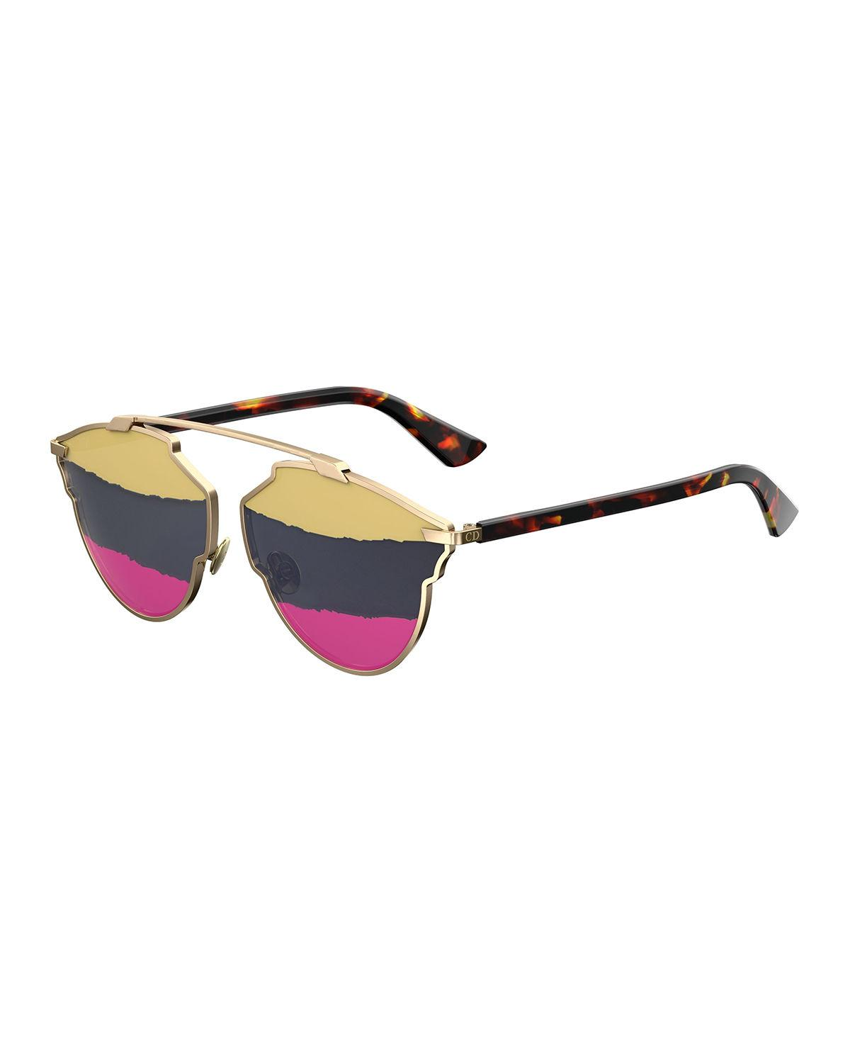 c6fce97bbd9d6 Dior So Real 59Mm Brow Bar Sunglasses - Gold  Pink In Havana-Gold ...
