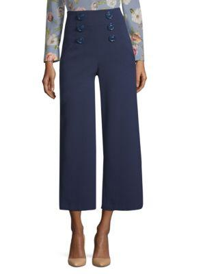 Alice And Olivia Ferris Sailor Culotte Pants In Sapphire