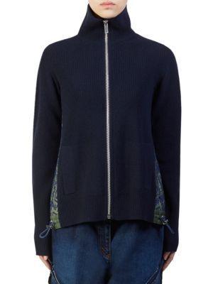 4dd9481f Sacai Reyn Spooner Sweater In Navy   ModeSens