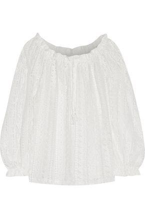 Maje Cotton-blend Corded Lace Top In White