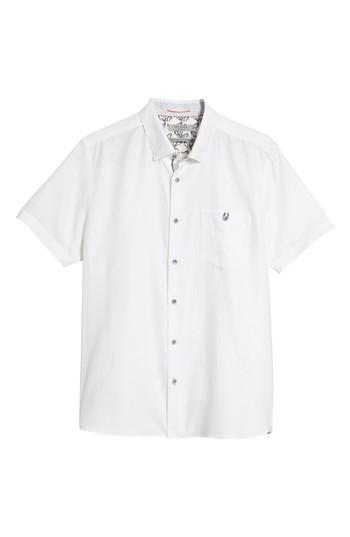 Ted Baker Slim Fit Sport Shirt In White
