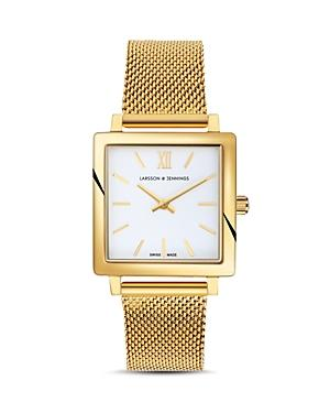 Larsson & Jennings Norse Watch, 27mm X 34mm In White/gold