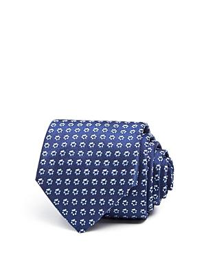 Hugo Boss Floral Ring Classic Tie In Blue